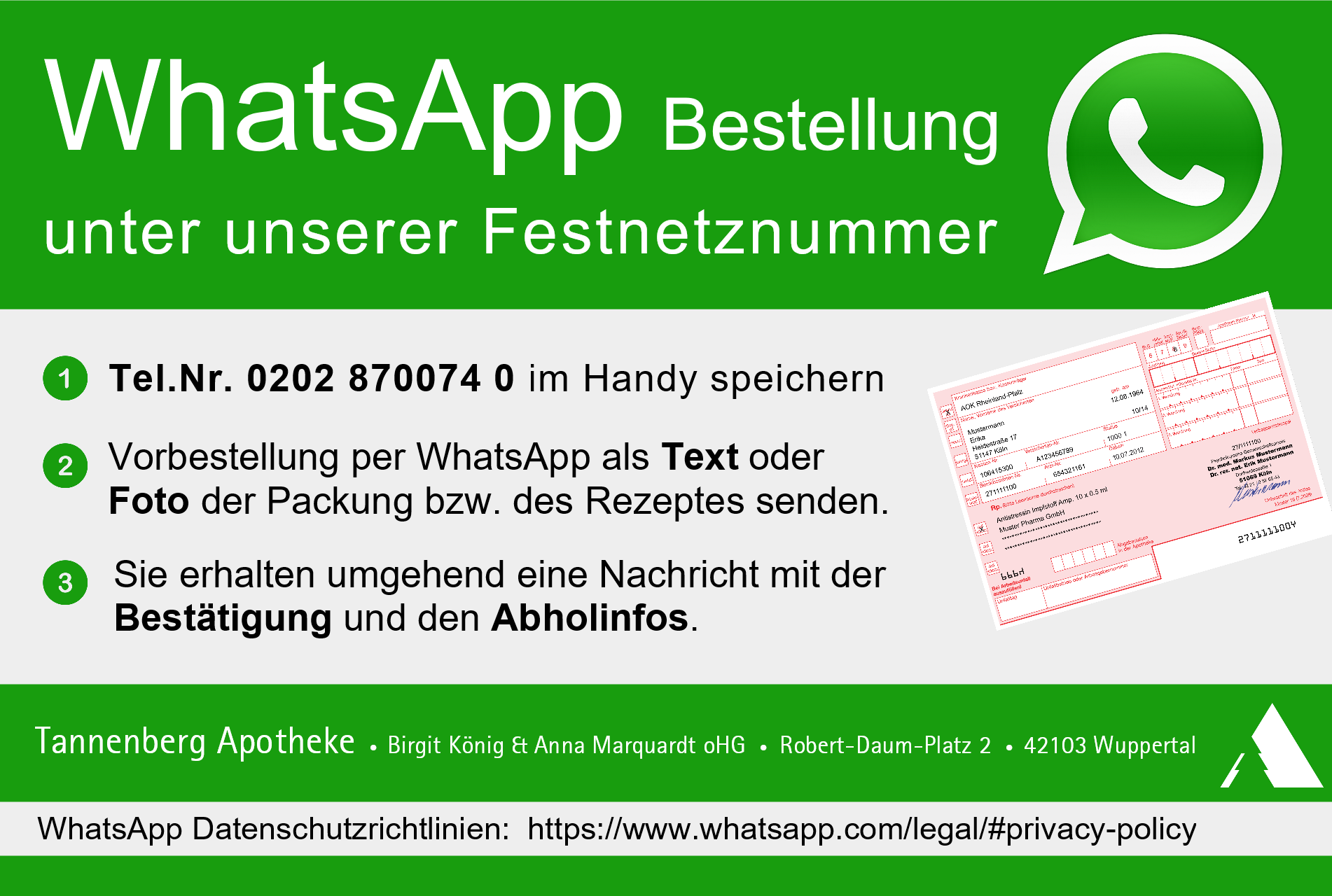 Aktion WhatsApp Karte 3zu2 V01