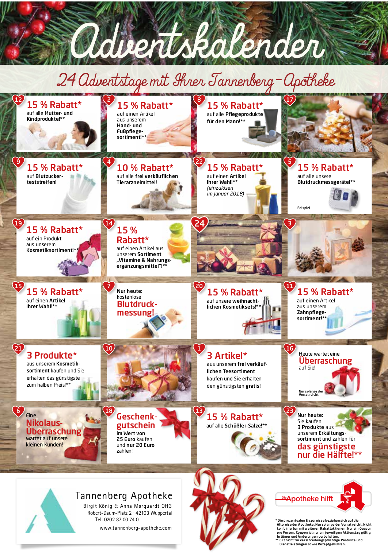 Weihnachten 2017 Adventskalender